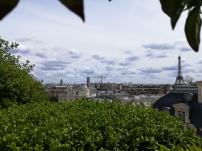 Vue sur la Tour Montparnasse, la Tour Eiffel